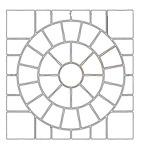 Raj Green Circle kit 2.4×2.4