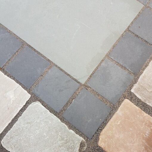 sawn black slate 100×100