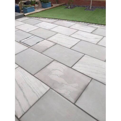 Textured Sawn Edge Manor house grey sandstone