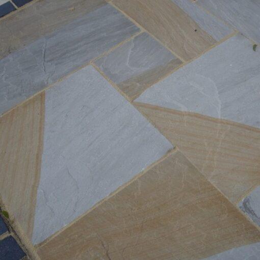 Indian York Grey Sandstone Paving