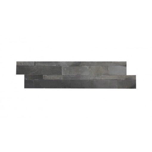 Black slate wall cladding