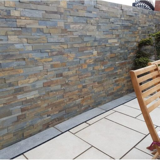 Rustic slate wall cladding